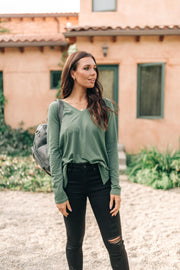 Tiffany Top in Olive - Women's Clothing AfterPay Sezzle KanCan Judy Blue Simply Sass Boutique
