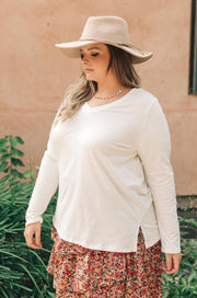 Tiffany Top in Pearl - Women's Clothing AfterPay Sezzle KanCan Judy Blue Simply Sass Boutique