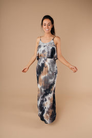 Timeless Neutral Tie Dye Maxi Dress - Simply Sass Boutique