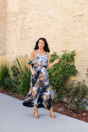 Timeless Neutral Tie Dye Maxi Dress - Women's Clothing AfterPay Sezzle KanCan Judy Blue Simply Sass Boutique