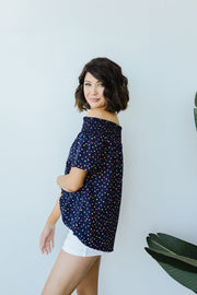 Tiny Twinkling Top In Navy - Simply Sass Boutique