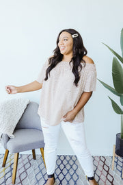 Tiny Twinkling Top In Taupe - Women's Clothing AfterPay Sezzle KanCan Judy Blue Simply Sass Boutique