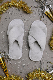Toasty But Mostly Cozy Gray Slippers - Women's Clothing AfterPay Sezzle KanCan Judy Blue Simply Sass Boutique