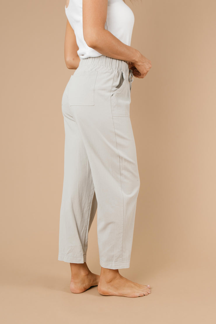 Transitions Cropped Pants In Gray - Women's Clothing AfterPay Sezzle KanCan Judy Blue Simply Sass Boutique