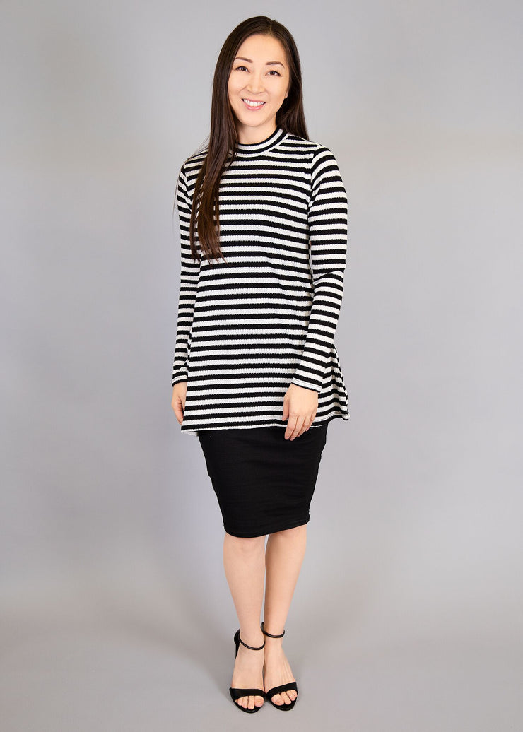 Statice - Black and White Stripe - Women's Clothing AfterPay Sezzle KanCan Judy Blue Simply Sass Boutique