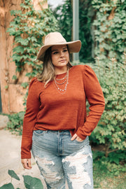 Very Pretty Top in Pumpkin Spice - Women's Clothing AfterPay Sezzle KanCan Judy Blue Simply Sass Boutique