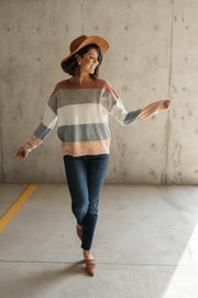 Warm Start Striped Sweater - Women's Clothing AfterPay Sezzle KanCan Judy Blue Simply Sass Boutique