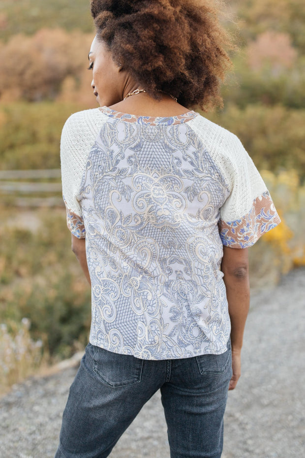When Pattern Meets Knit Top - Women's Clothing AfterPay Sezzle KanCan Judy Blue Simply Sass Boutique