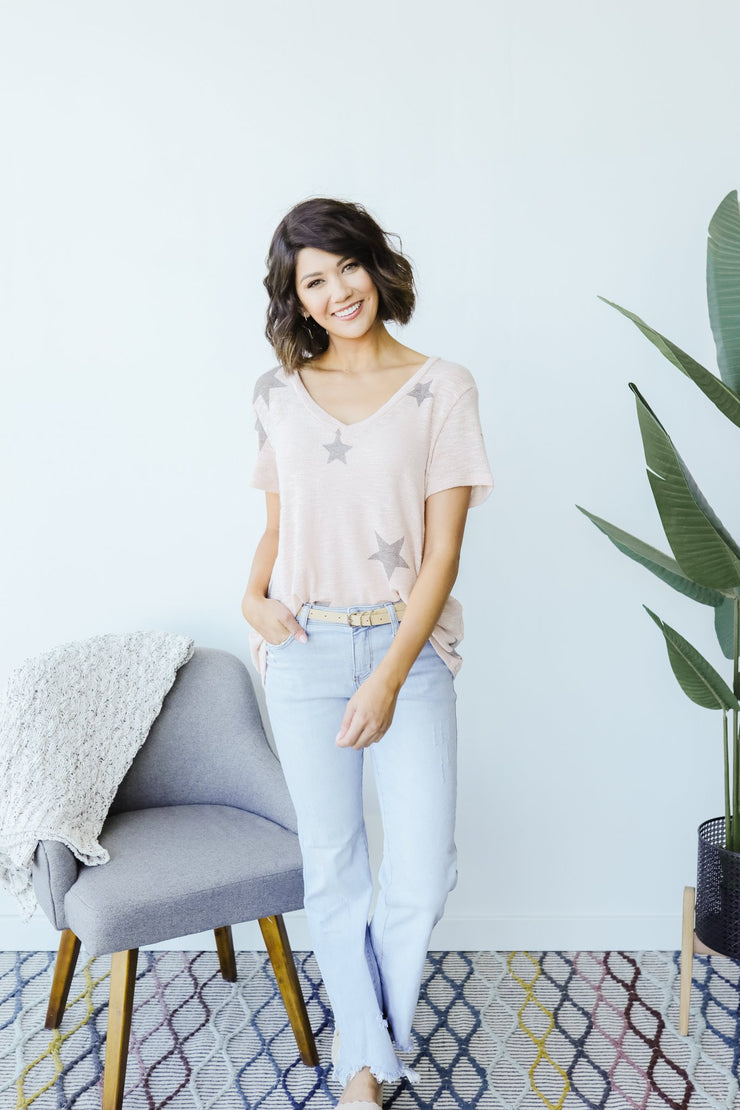 Wish Upon A Star Top In Blush - Simply Sass Boutique