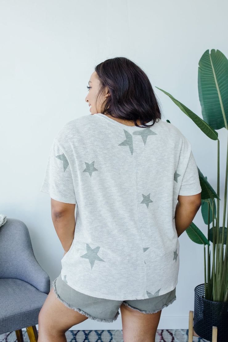 Wish Upon A Star Top In Gray - Women's Clothing AfterPay Sezzle KanCan Judy Blue Simply Sass Boutique