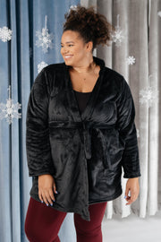 You Time Robe in Black - Women's Clothing AfterPay Sezzle KanCan Judy Blue Simply Sass Boutique