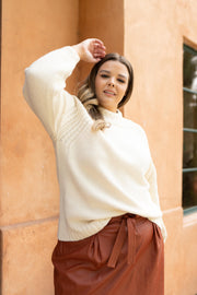 Your Favorite Knit Sweater in Cream - Women's Clothing AfterPay Sezzle KanCan Judy Blue Simply Sass Boutique