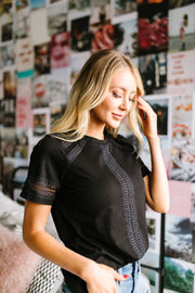 A Trace Of Lace Blouse - Simply Sass Boutique
