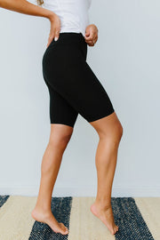 Aero Biker Shorts In Black - Women's Clothing AfterPay Sezzle KanCan Judy Blue Simply Sass Boutique