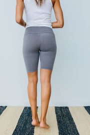 Aero Biker Shorts In Charcoal - Women's Clothing AfterPay Sezzle KanCan Judy Blue Simply Sass Boutique
