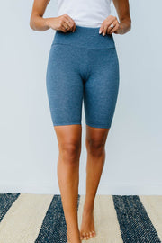 Aero Biker Shorts In Denim - Women's Clothing AfterPay Sezzle KanCan Judy Blue Simply Sass Boutique
