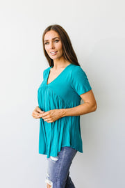 Bamboo Knit Top In Teal - Women's Clothing AfterPay Sezzle KanCan Judy Blue Simply Sass Boutique