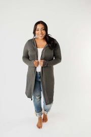 Between Seasons Cardigan In Charcoal - Simply Sass Boutique