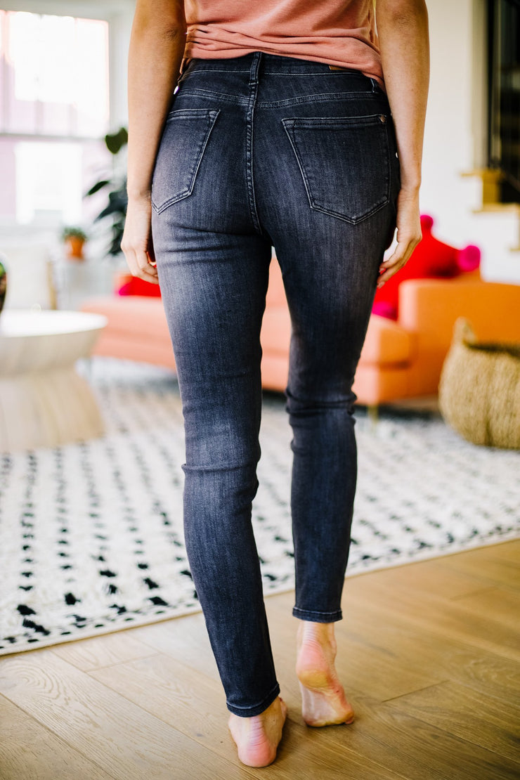 Black Gold High Waist Judy Blue Jeans - Women's Clothing AfterPay Sezzle KanCan Judy Blue Simply Sass Boutique