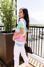 Blurred Lines Top With A Twist - Women's Clothing AfterPay Sezzle KanCan Judy Blue Simply Sass Boutique