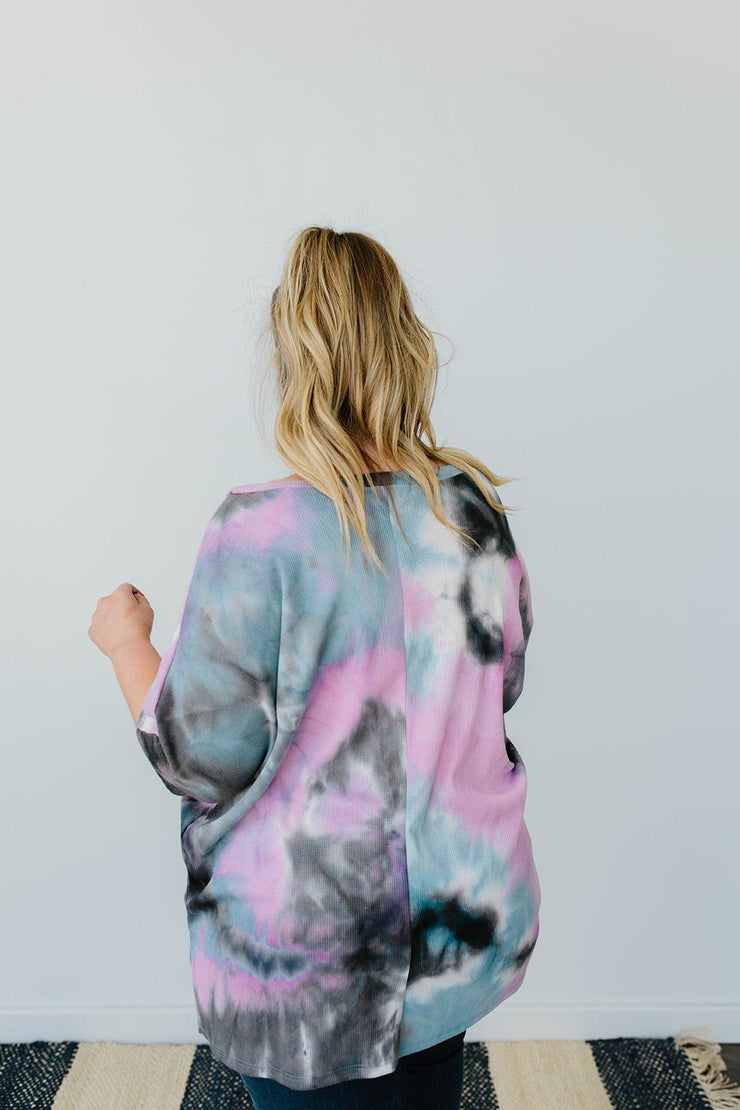 Breakthrough Tie Dye Top - Women's Clothing AfterPay Sezzle KanCan Judy Blue Simply Sass Boutique