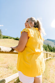 Build Me Up Buttercup Top In Yellow - Simply Sass Boutique