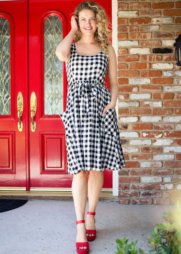 Gingham Picnic Dress - Women's Clothing AfterPay Sezzle KanCan Judy Blue Simply Sass Boutique