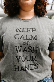 Calm & Clean Hands Graphic Tee - Women's Clothing AfterPay Sezzle KanCan Judy Blue Simply Sass Boutique