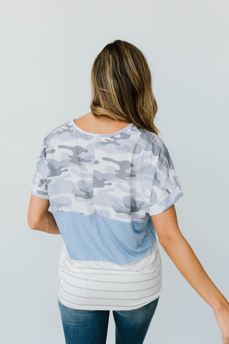 Camo Lockdown Top - Simply Sass Boutique