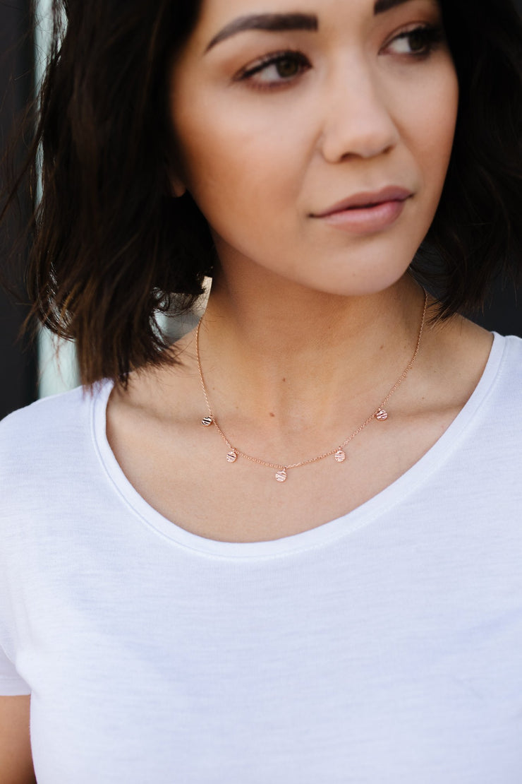 Charmed Rose Gold Necklace - Simply Sass Boutique