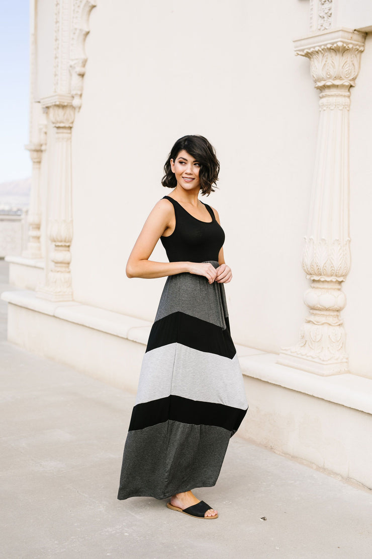Chevron Skirt Tank Maxi Dress - Women's Clothing AfterPay Sezzle KanCan Judy Blue Simply Sass Boutique