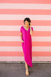 Chillax Summer Maxi In Magenta - In House - Women's Clothing AfterPay Sezzle KanCan Judy Blue Simply Sass Boutique