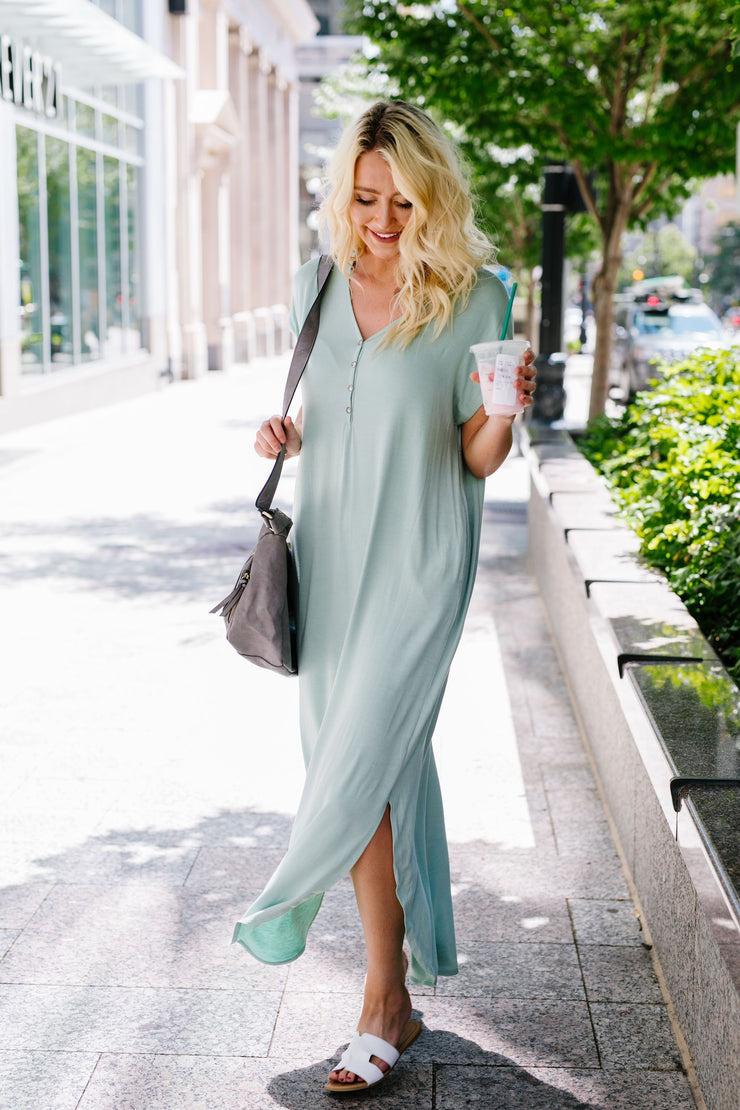 Chillax Summer Maxi In Sage - In House - Women's Clothing AfterPay Sezzle KanCan Judy Blue Simply Sass Boutique