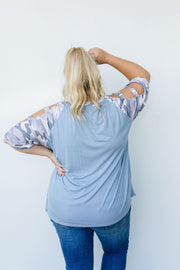 Climb The Ladder Gray Top - Women's Clothing AfterPay Sezzle KanCan Judy Blue Simply Sass Boutique