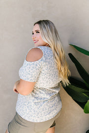 Cold Shoulders & Pale Blue Spots Top - Women's Clothing AfterPay Sezzle KanCan Judy Blue Simply Sass Boutique