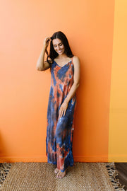 Coral Reef Tie Dye Maxi - Simply Sass Boutique