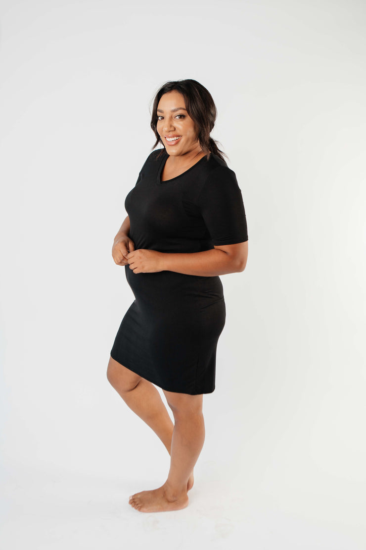 Cute Comfort Dress In Black - Simply Sass Boutique