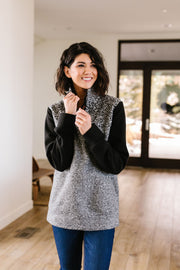 Dappled Black & Gray Pullover - Women's Clothing AfterPay Sezzle KanCan Judy Blue Simply Sass Boutique