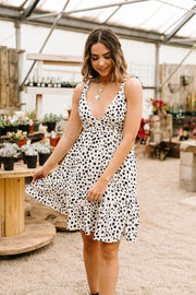 Darling Dalmatian Spot Dress - In House - Women's Clothing AfterPay Sezzle KanCan Judy Blue Simply Sass Boutique