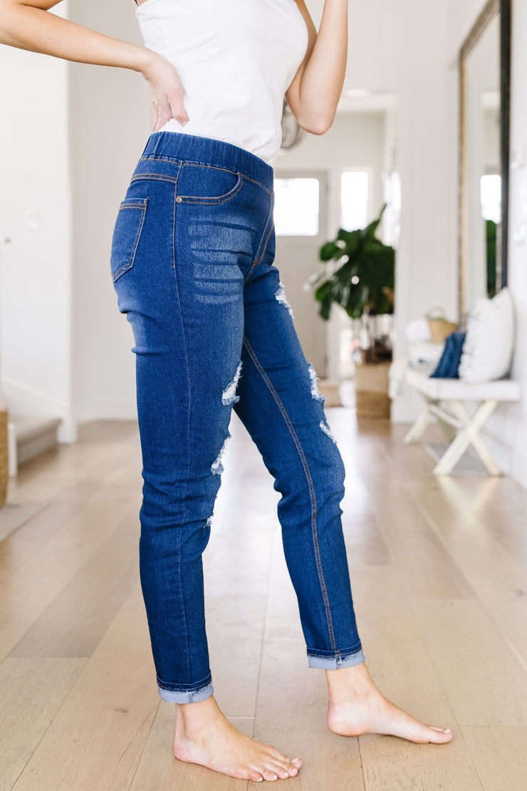 Destroyed Jessie Jeggings - Women's Clothing AfterPay Sezzle KanCan Judy Blue Simply Sass Boutique