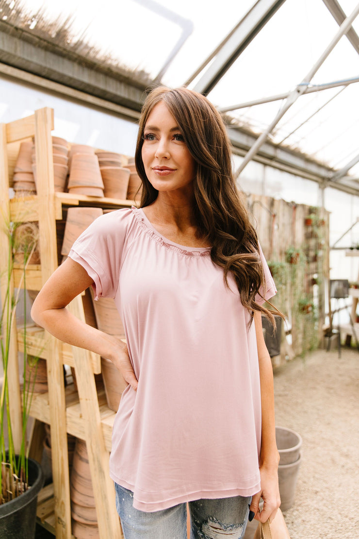Double Up Top In Mauve - Women's Clothing AfterPay Sezzle KanCan Judy Blue Simply Sass Boutique