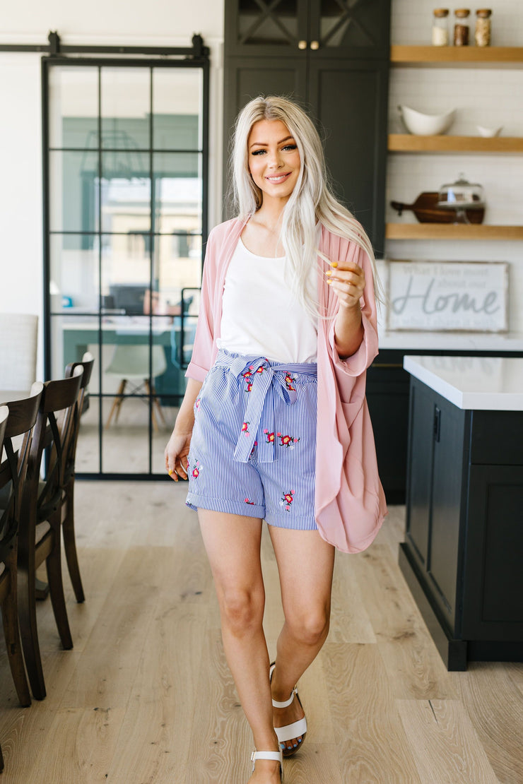 Elegant Chiffon Kimono Cardigan In Rose - Women's Clothing AfterPay Sezzle KanCan Judy Blue Simply Sass Boutique