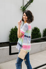 Faded Rainbow V-Neck - Simply Sass Boutique
