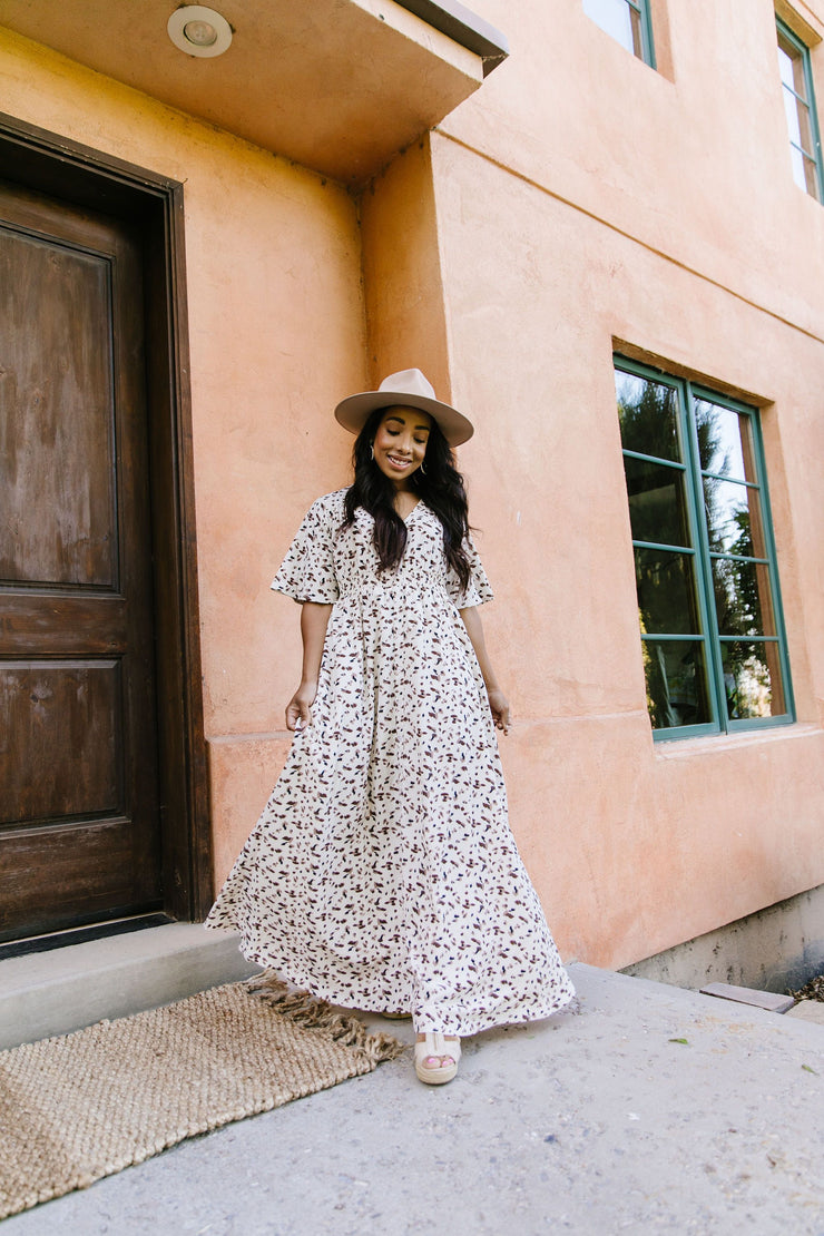 Falling For Spots Maxi Dress - Simply Sass Boutique