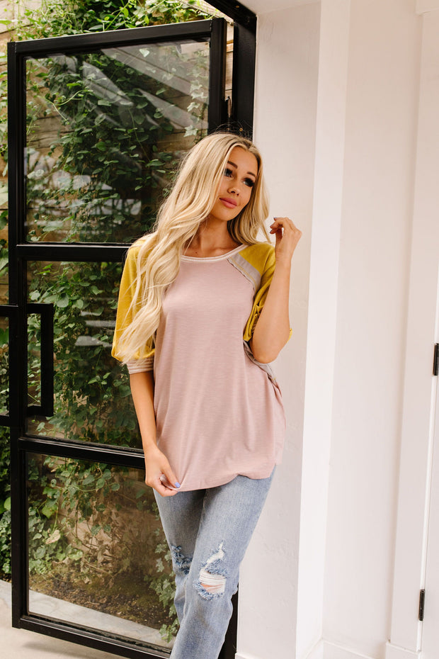 Feminine & Fierce Raglan Top - Women's Clothing AfterPay Sezzle KanCan Judy Blue Simply Sass Boutique
