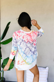 Fit To Be Tie Dyed Sweatshirt - Women's Clothing AfterPay Sezzle KanCan Judy Blue Simply Sass Boutique