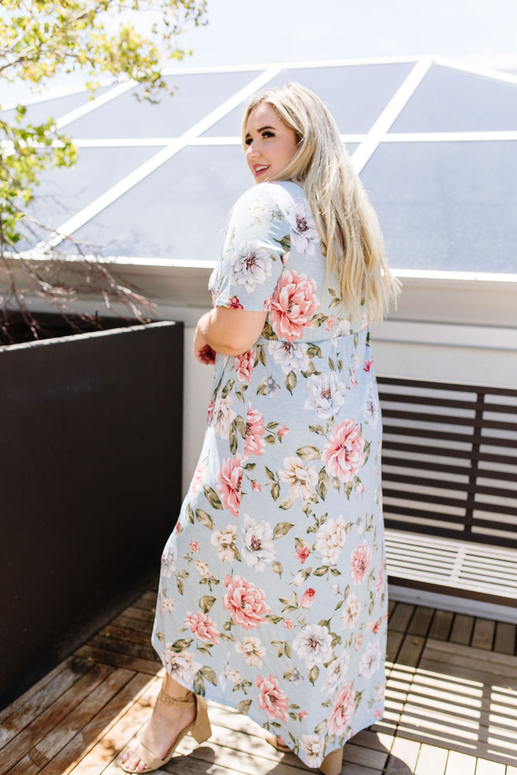 Floral Faux Wrap Maxi - Women's Clothing AfterPay Sezzle KanCan Judy Blue Simply Sass Boutique