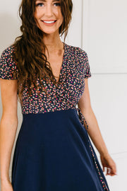 Flowers At Midnight Midi Dress - Simply Sass Boutique