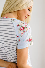 Flowers & Fun Raglan Top - Simply Sass Boutique