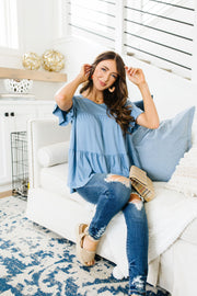 Gathered Tiers Top - Women's Clothing AfterPay Sezzle KanCan Judy Blue Simply Sass Boutique